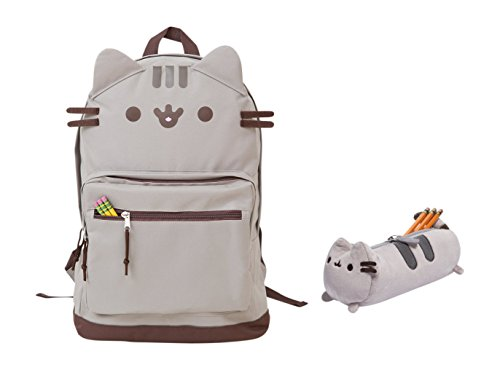 Pusheen Cat Face Backpack and Accessory Case Set