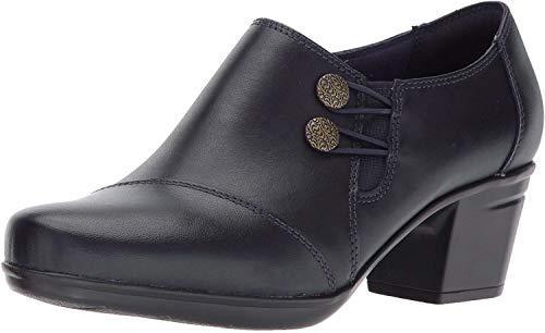 Clarks Women's Emslie Warren Slip-on Loafer,Navy Leather,8.5 M US