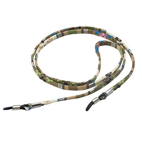 Bigood Antidérapant Accessoire Cordon de Lunettes Polyester Chaîne Sangle Jaune