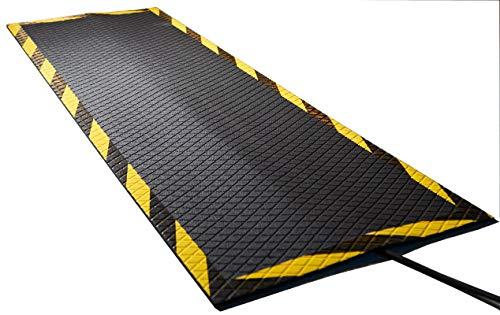 Morland Protect Gummimatte, 120 x 40 cm, Nitrilkautschuk, Bodenkabelbrücke Stolperschutz, Bodenkabelkanal - BodenKabelmatte - Gummifußmatte - Kabelschutz - Kabelabdeckung - schwarz Gummi