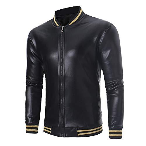Oliviavane Blazer Herren Solide Langarm Top Taschen Bluse Reißverschluss Hemd Warme Jacke Mantel Mode Persönlichkeit Lederjacken Outwear Pullover