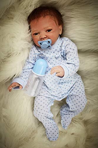 HRYEOY 20 Pulgadas 50 cm Muñecas de bebé recién Nacido Reborn Silicona Realistic Reborn Baby Dolls Vinilo Suave Silicona Realista Que Parece Real Bebé Reborn Hecho a Mano Bebé niños