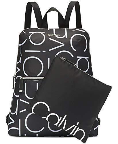 Calvin Klein Womens Tatiana Logo Lightweight Backpack