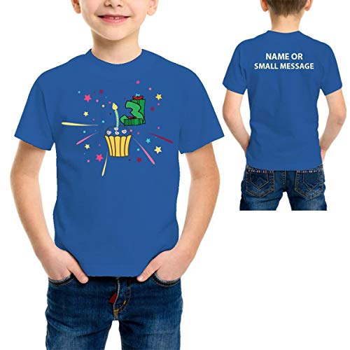 MGEAR Kaars 3 Kinderen Kinderen Jongens 3e Verjaardag Grafische Gedrukt T-shirt T-shirt Aangepaste Tekst Gedrukt tee Ideaal cadeau