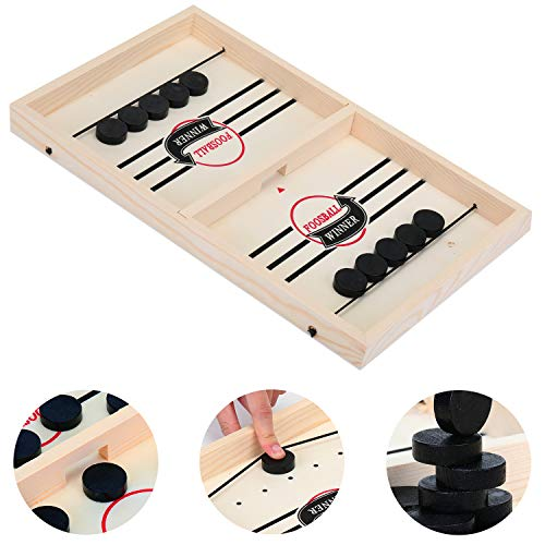 KATELUO Brettspiel Hockey, Katapult Brettspiel,Katapult Schach, Geeignet für Eltern-Kind-Interaktion, Brettspielzeug, Brettspiele für Zwei Spieler