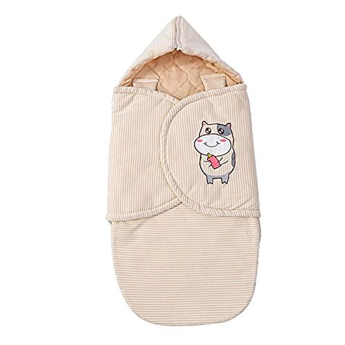 MH-RING Saco Dormir Bebe, Saco de Dormir Bebé con Capucha Cremallera Ajustable Algodón Cálido para Bebés o Niños de 0-16 Meses (Size : Small 90cm)