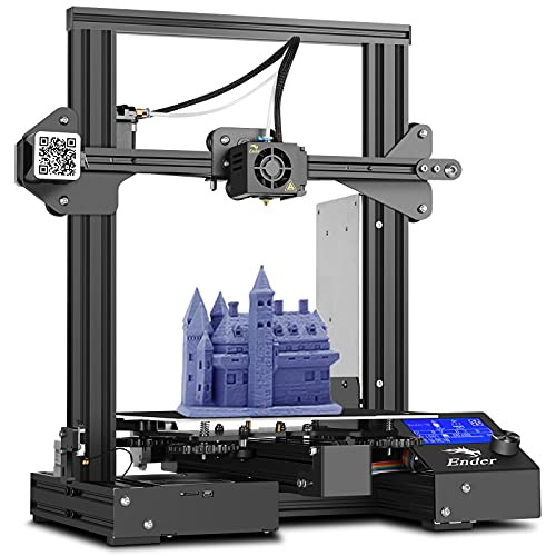 Creality Ender 3 Pro 3D Printer with 32-bit Motherhood Resume Printing Function Magnetic Build Surface Plate and UL Certified Power Supply Metal DIY Printers Print Size 220x220x250MM