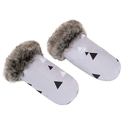 Sevira Kids - Moufles pour poussette - protège-mains chauds et imperméables - Tangram