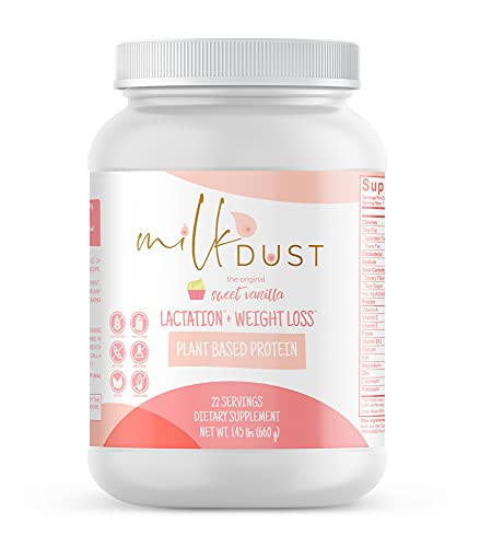 Milk Dust Lactation Protein Powder   Breastfeeding Protein Powder for Milk Supply and Weight Loss While Nursing   22 Servings