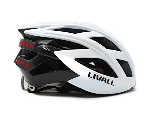 LIVALL BH60SE 白(WHITE) 自転車 ヘルメット LEDライト 方向指示器 3軸センサー 安全アラート ブルートゥー...