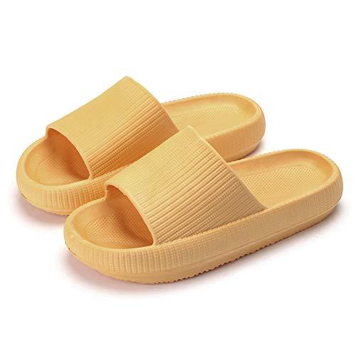 Pineocus Pantuflas antideslizantes de suela gruesa de secado rápido, zapatillas de baño con plataforma de ducha, muy suaves, buena resistencia, de secado rápido, para mujeres y hombres