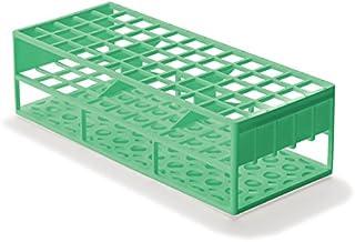 قفسه لوله آزمایشگاهی آزمایشگاهی برای آزمایش لوله های 17 میلی متر، سبز