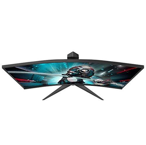 AOC Gaming CQ27G2U – 27 Zoll QHD Curved Monitor, 144 Hz, 1ms, FreeSync Premium (2560×1440, HDMI, DisplayPort, USB Hub) schwarz/rot - 3