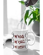 Kubek 'Knives Out' - My House, My Rules, My Coffee Mug - inspirowany filmem replika prezent