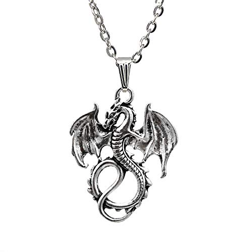 Personalized Fierce Animal Dragon Necklace Dragon Jewelry Infinite Charm Friendship Necklace Pendants Children Gift
