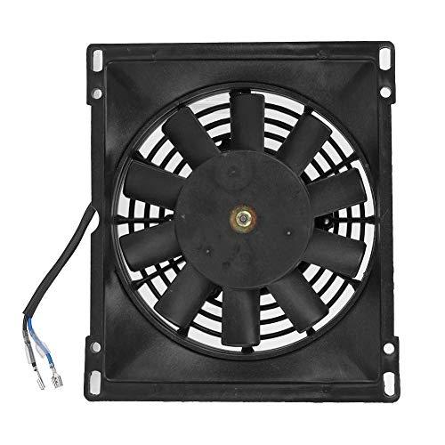 Ventilador de refrigeración del radiador de 12 V Negro Rectángulo eléctrico Enfriador...