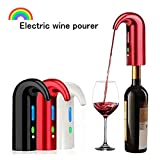 YZXZM Smart Électrique Decanter USB Rechargeable Decanter Vin Rouge Vin Électronique Decanter Rapide Decanter Intelligent Vin Decanter,Rouge