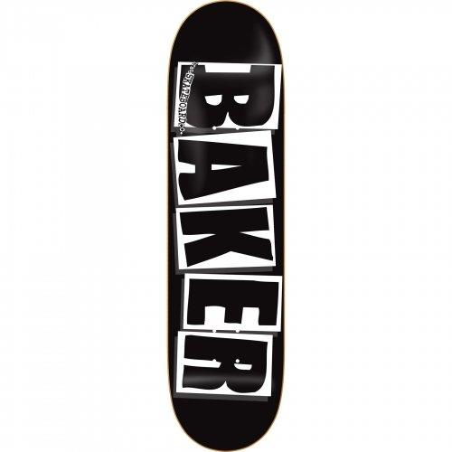 Baker Brand Logo White Skateboard Deck, 8.0