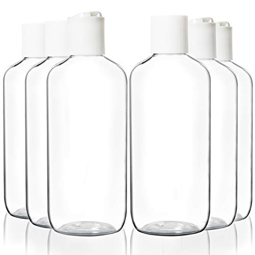 Youngever 10 Pack 8 Ounce Empty Squeeze Containers with Disc Cap, Plastic Bottles with Disc Top Flip Cap, Refillable Cosmetic Bottles, Squeeze Containers for Shampoo, Body Soap, Toner, Lotion, Cream