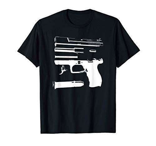 Esquema del arma inspirada en la pistola G17 Relacionado con Camiseta