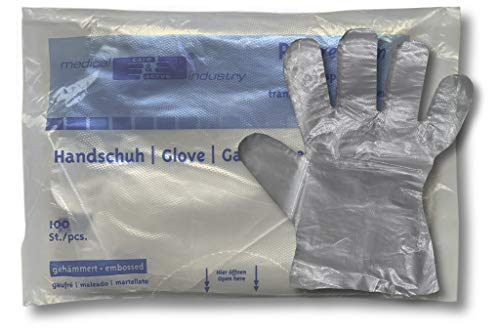 Folienhandschuhe 1 kompletter Karton = 1000 Stück wasserdichte Kunststoffhandschuhe Dieselhandschuhe Friseurhandschuhe