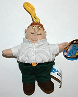 Family Guy Peter Griffin Plush Toy Clip-On - 5 inches - Collectible