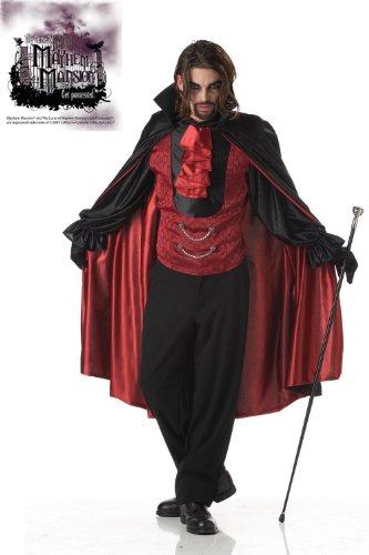 Generique - Fürst der Nacht Vampir-Kostüm für Herren schwarz-rot - L