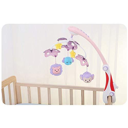 YXYOL Cuna de bebé móvil de la música de cabecera Bell, Dibujos Animados del Pesebre Que cuelga de Bell Nuevo Modelo de móvil fijado para el recién Nacido para niños Niños Niñas Juguete Infantil