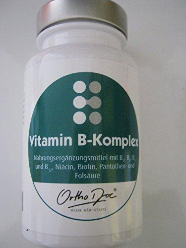 Ortho Doc Vitamin B-Komplex Kapseln zur Nahrungsergänzung, 60 St. Kapseln