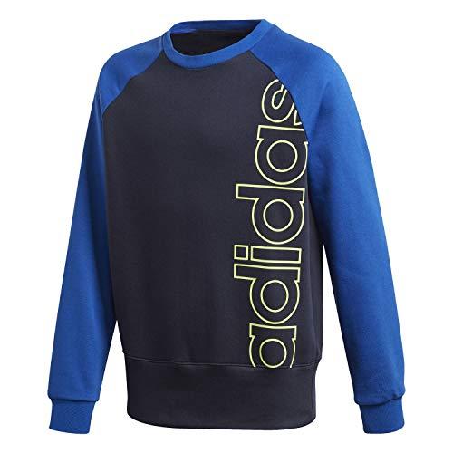 adidas Unisex Kinder Logo Sweatshirt, Legink/Siggnr, 140