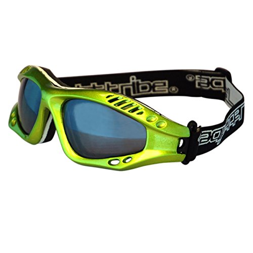 Expert Lime Metallic Frame PWC Jetski Ride & Race Goggles