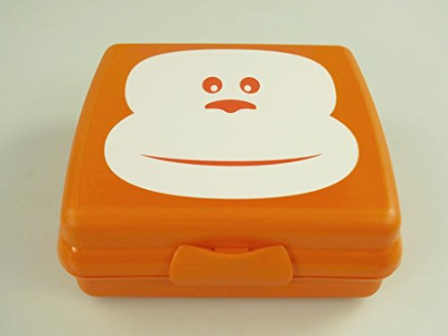TUPPERWARE Sandwich-Box Brotbox Pausenbrotbehälter A126 Sandwichbox orange Affe 10067