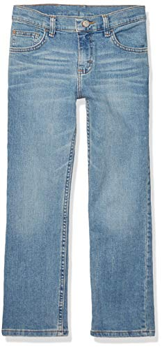 Wrangler Authentics Kids' Big Boy's Slim Straight Stretch Jean, Sky, 12