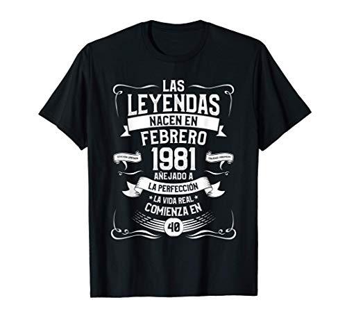 40.o Regalo Cumpleaños Leyenda Desde febrero 1981 Camiseta