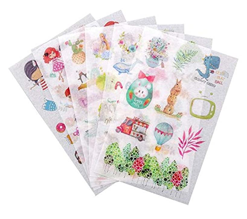 12 Sheets Planner Stickers,Spring Flower Plant and Gourmet Girls Self-Adhesive Paper Letter Stickers for DIY Arts and Crafts,Life Daily Planner,Bullet Journals,Scrapbooks,Calendars (Spring Girls)