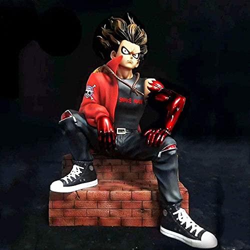 Einteilig Trendy Trendy Marke Sofa Snakeman Luffy Anime Figur sitzende Haltung 22cm (8 668in) Boxed / PVC Statische Statue / Charakter Modell Puppe Spielzeug