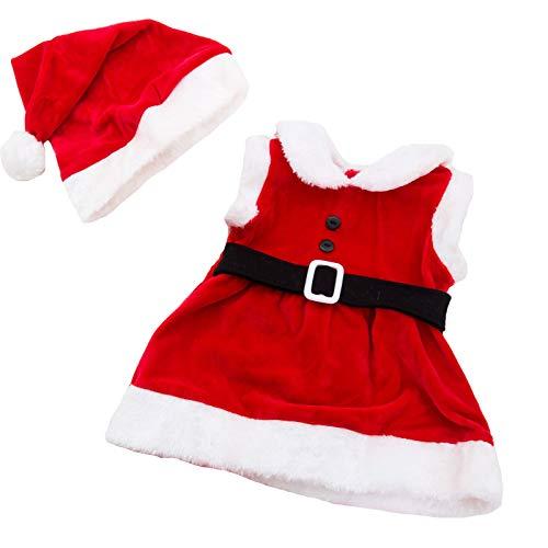 Toocool - Completo Bambina neonata Tutina Vestitino Babbo Natale Cappellino Nuovo FK827 [12/18,Rosso]
