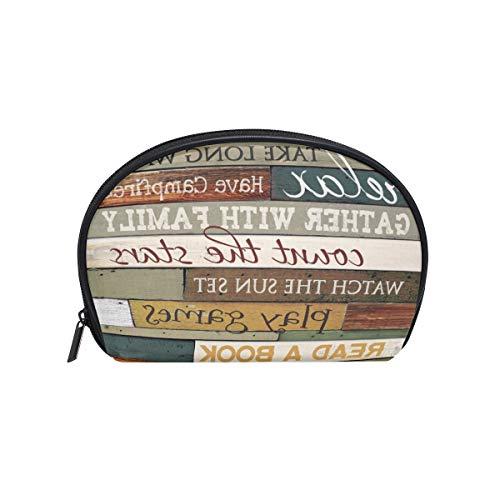 Kosmetiktasche zum Lesen von Buchstaben, Clutch, Muschel-förmig, Make-up-Tasche, Reisen, praktischer Organizer, Tasche für Damen