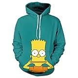 シンプソンズ Simpsons メンズパーカー フード付き 長袖 秋の冬