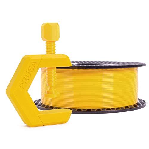 Prusament Mango Yellow, PETG Filament 1.75mm 1kg Spool (2.2 lbs), Diameter Tolerance +/- 0.02mm