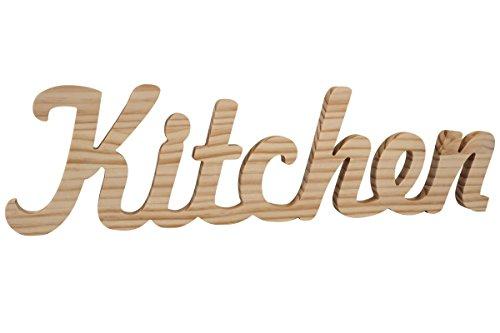 La Lluna Palabra Kitchen de Madera de Pino. Texto de Madera para Decorar tu Cocina y señalizar con tu Toque Original si Las personalizas.