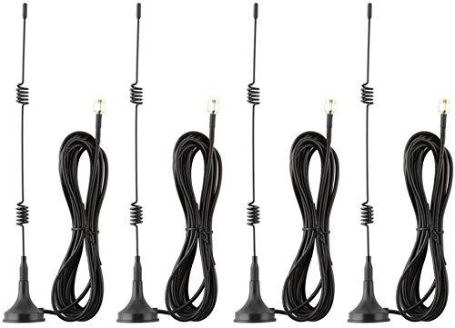 Tonton magnetische voet antenne 7dBi high-performance antenne WiFi signaalbooster versterker voor IP-camera netwerk ontvanger 3M kabel externe antenne NVR externe antenne voor bewakingscamera