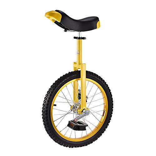 """Niguleser 16-Zoll-Rad Einrad, Kinder Trainer Einräder, 2.125\"""" Leakproof Butyl Berg Reifen, Gleichgewicht Radfahren Übung Gesundheit,Gelb"""