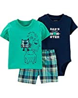 Carter's 3-Piece Monster Little Short Set (Multi/Monster, 24 Months)