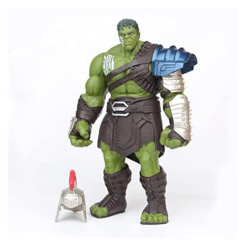 JSJJAUA Figura de acción 35 cm Hulk Thor 3 Ragnarok Hands Moveable War Hammer Battle Hacha Gladiador Hulk Figura de acción Modelo de Juguete muñeca