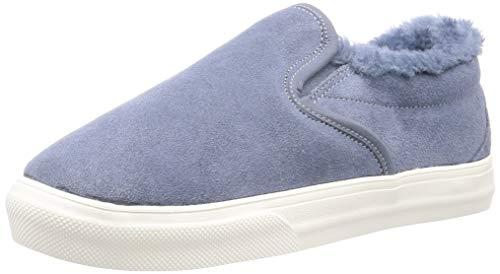 Minnetonka Women's Wilder Suede Slip-On Sneakers 9 M Vintage Blue