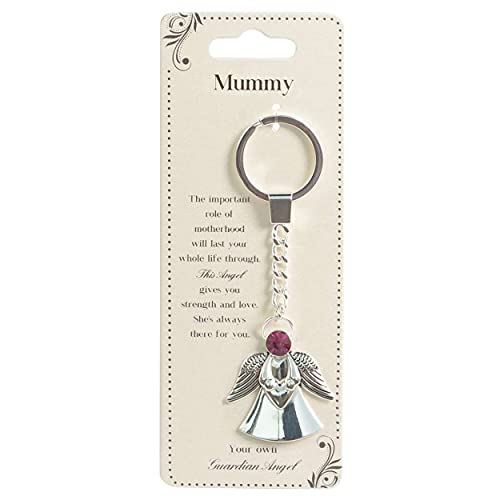 Guardian Angel 62779 Keychain for Mummy Or Mother, Guardian Key Ring with Personalized Message Card, Religious Gifts for…