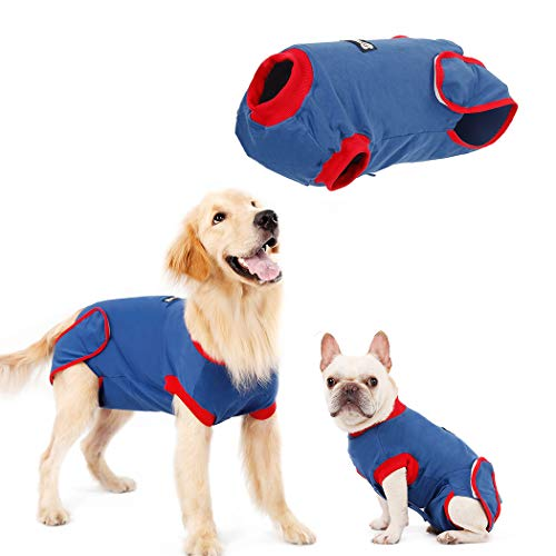 QBLEEV Recovery Suit for Dogs After Surgery, Alternative E-Collars Bandages, Professional Surgical Pet Wear Shirts for Abdominal Wounds and Skin Diseases…