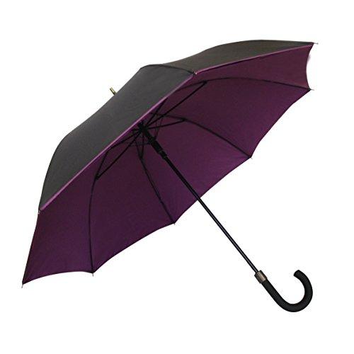 SMATI Paraguas Largo Doble-Tejidos Antiviento Doble proctecion,Muy Solido con apuerta automatica