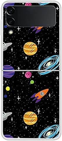 LANHUO668 for Samsung Galaxy Z Flip 3 Case 2021, Anti-Scratch Hard Painted Protection Shockproof Protective Phone Case Cover (D)